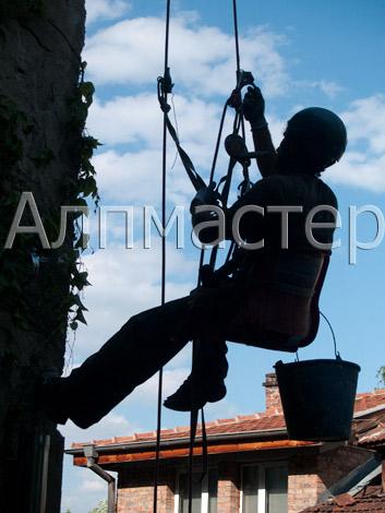 алпинисти - въжен достъп
