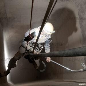 Почистване на силози в Каменица АД, Плевен