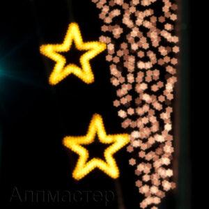 Светещи коледни звезди