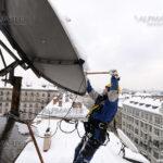 Почистване на антени от сняг и лед