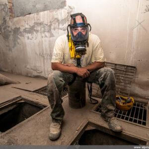 """Работниците с по-чуствителни очи използват """"full face"""" маски за дихателна защита"""