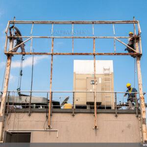 Демонтаж на стоманена конструкция на рекламно съоръжение