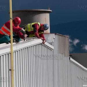 Работа по покрива на котелния цех